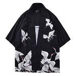Jojos Bizarre Adventure V/êtements De Cosplay Haori Japon Kori Yoshikage Kujo Jotaro Japon Veste Ouverte pour Hommes Kimono Japonais