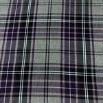 28 Red Tartan Poly Viscose Fabric 150cm Col
