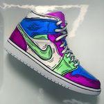 Custom Nike Air Max 90 Neon Flash Airbrush Sneaker