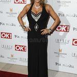 Long Noir Perruque Avec Frange Towie Essex Pop Star Mannequin Glamour robe fantaisie