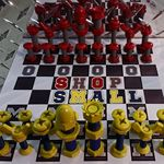 Michigan Ohio State Chess Set Created By Employees At Main Street Ace Hardware Chess Set Chess Classroom Projects