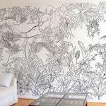 Commutateur de lumière damassé flourish sticker autocollant mural fleur de vigne UK