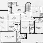 مخطط منزل دور واحد 200 متر House Floor Design Drawing House Plans Model House Plan