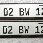 Orbiz German Number Plate Design Bike Auto Collision