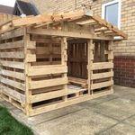 Meublée 3-Clapier maison de poupée avec meubles bois holzpuppenhaus Maison en bois NEUF
