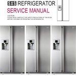 Lg Lsxs26366 Lsxs26366s Lsxs26366d Side By Side Refrigerator Original Service Repair And Factory Troubleshoot Refrigerator Service Refrigerator Locker Storage