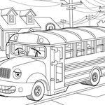 Gambar Mewarnai Bus Sekolah Untuk Anak Paud Dan Tk Di 2021 Warna Gambar Anak
