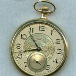 ART DECO 1930 ELGIN POCKET WATCH FANCY DIAL 7j 12s 303 GRADE