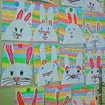 Easter Bunnies And Addition Rainbows Learning In Spain Easter School Easter Art Easter Preschool
