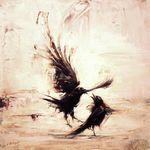 Türschild Dekoschild « Crow » Krähe Rabe Elster