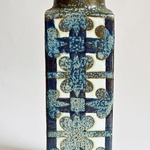 Scandinavian Riihimaen Lasi Oy Riihimaki Grey Blue Art Glass 1472 Vase By Tamara Aladin We Take Customers As Our Gods