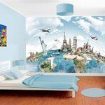 Wall Tattoo Wall Decal Sticker Living Room Globe World Map Globetrotters w89