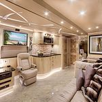 Pin By Chris Myers On Tour Bus Ideas Luxury Campers Luxury Bus Cool Rvs