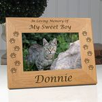 Personalized Memorial Cat Frame In Loving Memory Of My Sweet Girl Forever In My Heart Pet Memorial Frames Cat Memorial Cat Memorial Gift