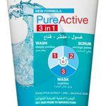 Garnier Pure Active 3 In 1 Wash Scrub And Mask 150ml Skin Care Mask Body Skin Care Garnier Skin Active