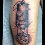 Miners Lamp And Head Wheel Lamp Tattoo Tattoos R Tattoo