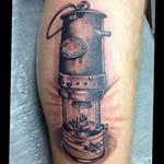 Miners Lamp And Head Wheel Lamp Tattoo Tattoos R Tattoo