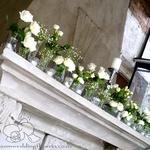 Auckland Wedding Flower Gallery 4 V021 Mantells Mount Eden Wedding Venue Mentelpiece Arrangement Table Setting Decor Babys Breath Centerpiece Babys Breath
