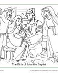 The Birth Of John The Baptist Coloring Page Concept