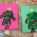 3x Handabdruck Footprint Ton Andenken beste Baby-Dusche-Geschenk farbigen Ton