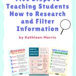 Gr 5 8 Research Guide Introduction And Skills Menu Research Skills Information Literacy Study Skills