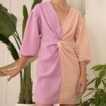 Shop Ganni Blue Lowell Dot Print Ruffled Tier Dress for