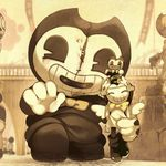 This Is Just Too Cute With Images Bendy And The Ink Machine