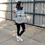 Ella Richards on   Adidas superstar, Sneakers fashion
