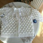 Blue Booties Newborn PREMATURE Baby/'s Knitted Pram Shoes Handmade négocier