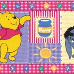 "2.5/"" x 2.5/"" each 25 Winnie the Pooh Playtime Stickers Party Favors"