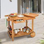 Outdoor Grill Trolley Servierwagen Mit Tablett Aldi Liefert Servierwagen Outdoor Grill Servierwagen Holz