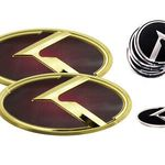Aluminum-polyurethane car Emblem VOLVO 960 EXECUTIVE set 2 pieces satin