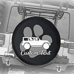 556 Gear Neon Artistic K9 American Lab Pit Bull Staffy Dog Mix Spare Tire Cover fits SUV Camper RV Accessories Black 31 in