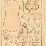 Zwei Bastelbogen Ausschneidebogen Papier 50er Jahre