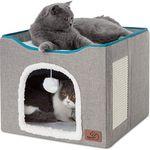 Amazon Com Amazonbasics Indoor Cat Condo Ottoman 15 X 17 Inches Light Pink Pet Supplies In 2021 Cat Condo Sturdy Furniture Scratches