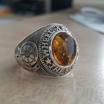 Genial Ring Onyx Markasit Echt 925 Silber Gothic Barock Ringe