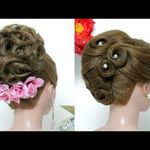 Wedding Updo Bridal Hairstyle For Long Hair Tutorial Step By Step Youtube Long Hair Updo Simple Wedding Hairstyles Prom Hairstyles For Long Hair