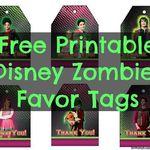 Free Printable Disney Zombies Favor Tags Birthday Buzzin Zombie Disney Zombie Birthday Parties Zombie Birthday