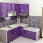 Contoh Desain Dapur Minimalis Warna Ungu Model Dapur Kabinet Dapur Warna Dapur