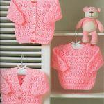 UKHKA 186 Bebé Doble Crochet Tejido Patrón para Zig Zag borde Manta /& Bebe