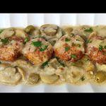 صدور الدجاج المجشية باللحم المدخن Cordon Bleu مرفوقة مع ڨراتان البطاطا Youtube Food Sandwiches