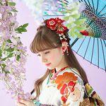 2020新作振袖コレクション08 鶴 紅白 レトロ 振袖 浴衣なら着物の三松 伝統的な服 振袖 日本の着物