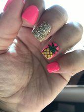 #pineapples #dippowder #nailart #mani #snsPineapples!!!!Pineapples!!!!