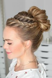 Two is always better than one, right ? Try this double braid lace hair style wit…