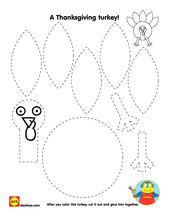Construct a #Thanksgiving turkey with our free #Printable | alextoys.com