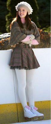 Blair Waldorf (1×11). Zara capelet and skirt, pink Victoria's Secret cashmere … – #cuteskirt #dressskirt #longskirt #miniskirt
