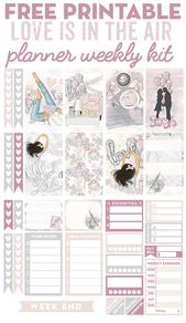 """Free Printable """"Love Is In the Air"""" Planner Stickers – Weekly Kit – Lovely Planner"""