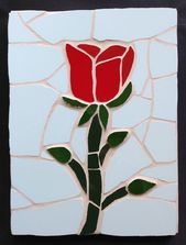 Stained Glass Roses Roses Mosaic Supplies Mosaic Blue Roses