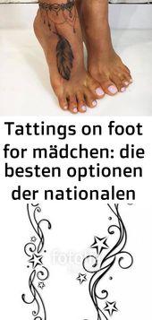 Tattings zu Fuß für Mädchen: die besten Möglichkeiten der nationalen Zeichnungen 6 – Tattoos