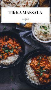 Vegane Tikka Masala   – Food | Gemüse Rezepte